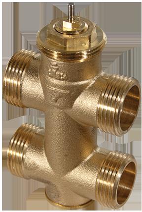3-way unit valve, PN 16 (el.)