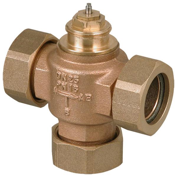 3-way unit valve, PN 16