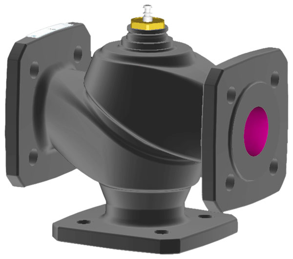 3-way flanged valve, PN 6 (el.)