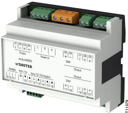 Remote I/O module, ecoLink520, 521, 526
