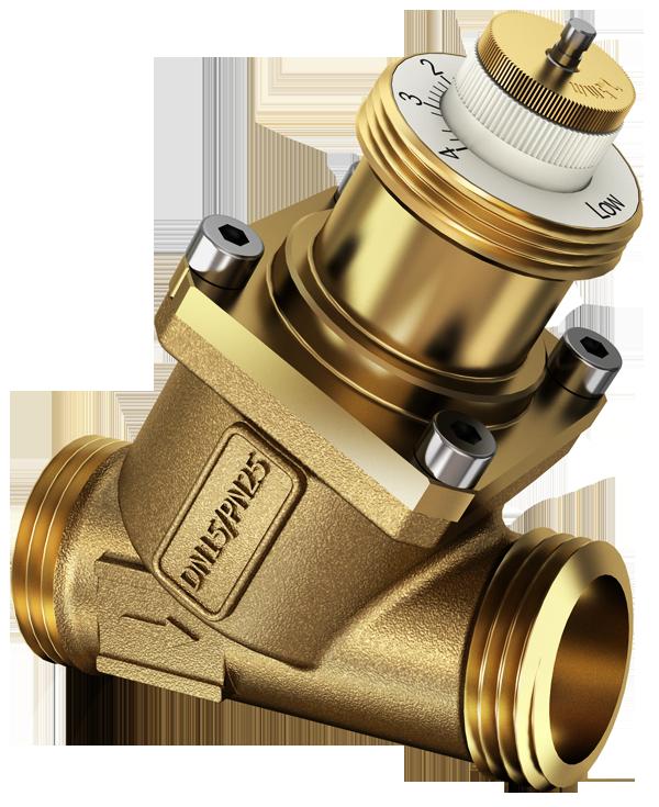 2-way regulating valve for dynamic hydronic balancing, PN25, Valveco compact