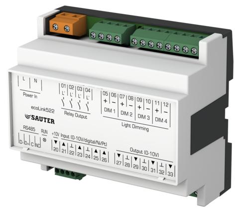 Remote I/O module, ecoLink522, 523