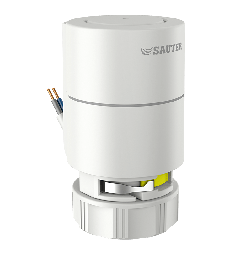 Thermal actuator for unit valves with stroke indicator